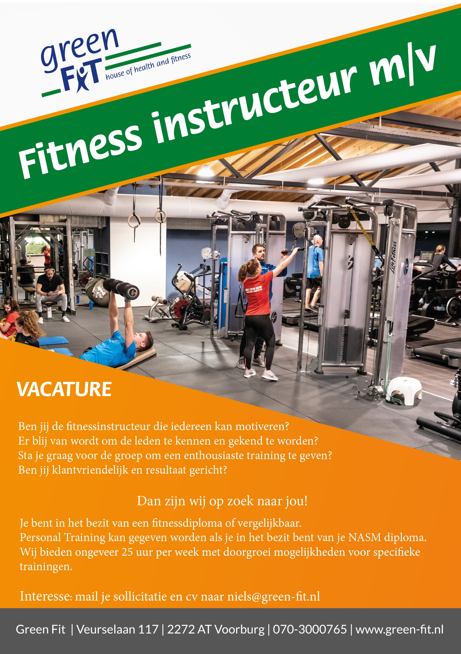 Green-fit - Vacature groepsles instructeur